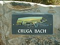 Gate sign for Cruga Bach - geograph.org.uk - 209879.jpg