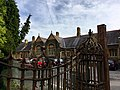 Gates of the former King Henry VIII Grammar School, Abergavenny, October 2018 (2).jpg