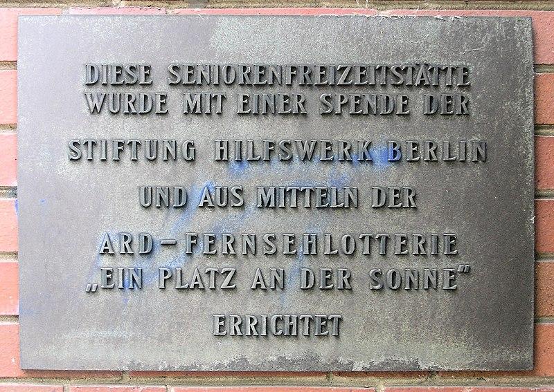 Gedenktafel Stierstr 20 (Fried) Seniorenheim