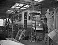Gelede trams in aanbouw voor Amsterdam bij Beijnes, Bestanddeelnr 908-3742.jpg