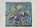 Gemeindebau Hadikgasse 268-272 Stiege 11 - Mosaik Zwetschken - Richard Ruepp 1953-54.jpg