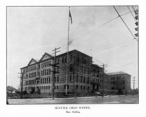 William E. Boone - Seattle High School, one of Boone's last commissions