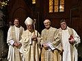 Generalvikar, Erzbischof Koch, Erzbischof Nossol, Msgr. Onizazuk nach der Messe zum 30. Jubiläum der friedlichen Revolution 1989.jpg