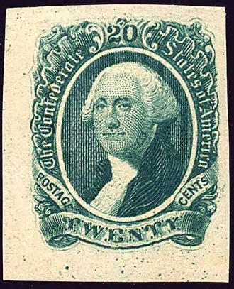 Confederate States of America - 20-cent C.S. 1863