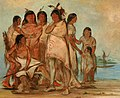 George Catlin - Du-cór-re-a, Chief of the Tribe, and His Family - 1985.66.199-206 - Smithsonian American Art Museum.jpg