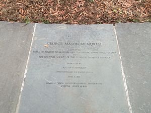 George Mason Memorial - Image: George Mason Memorial inscription