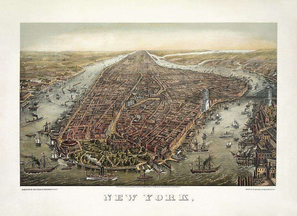George Schlegel - George Degen - New York 1873