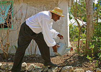 George Adderley House - Historical reenacter at Crane Point's Bahamian Heritage Festival 2006