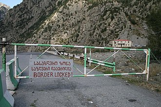 Georgia–Russia relations - The Georgia–Russia border zone at Upper Lars has been closed since 2006