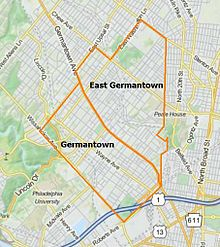 map of germantown philadelphia Germantown Philadelphia Wikipedia map of germantown philadelphia