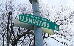 Germantown Avenue street sign