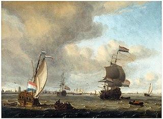 Gezicht op de Maas voor Rotterdam