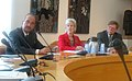 Ghulam Nabi Azad and the US Health Secretary, Ms. Kathleen Sebelius, in a meeting to discuss matters relating to bilateral cooperation covered under the Indo-US Health Initiative launched in 2010 in Geneva on May 21, 2013.jpg