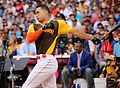 Giancarlo Stanton competes in semis of '16 T-Mobile -HRDerby. (28468370472).jpg