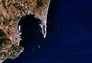 Satellite view of the Bay of Gibraltar (NASA).