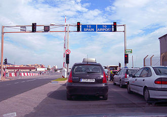 Winston Churchill Avenue - Image: Gibraltar Airport Checkpoint
