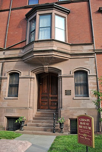 Gibson House Museum - Front of the Gibson House Museum on Beacon Street