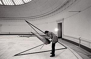 Gilberto Zorio - Gilberto Zorio in the Museum of Fine Arts, Ghent in 1980