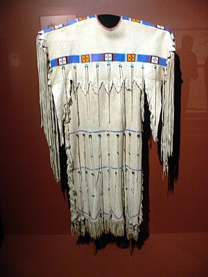 Cheyenne - Cheyenne hide dress, ca. 1920, Gilcrease Museum