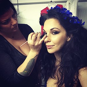 Gin Cooley - Gin Cooley in hair and makeup