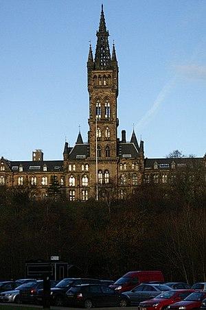 Thomas Reid's tombstone - Image: Glasgow University tower geograph.org.uk 1108298