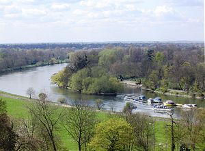 Islands in the River Thames - Glover's Island from Richmond Hill