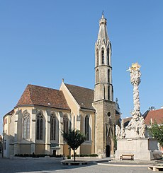 Goat Church and Holy Trinity Column, Sopron.jpg