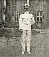 Godfrey Chevalier in whites