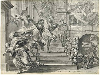 Athamas - Athamas tearing apart his children by Godfried Maes