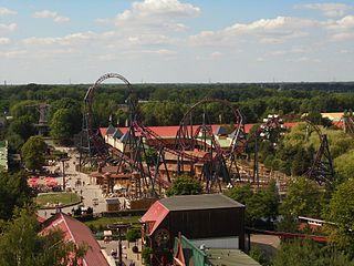 Gold Rush (Slagharen) Steel roller coaster at Attractiepark Slagharen