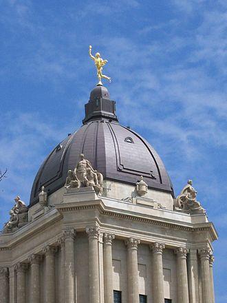 "Manitoba Legislative Building - The Golden Boy, ""Eternal Youth"", or Mercury"