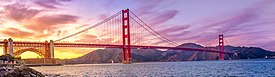 Golden Gate Bridge at Purple sunset (cropped).jpg