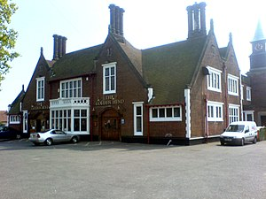 Tolly Cobbold - The Golden Hind in Ipswich, another example of a Tolly Folly
