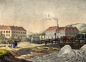 St. Peter's Bridge - St. Peter's Bridge in the mid-19th century