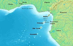 Lage von Bioko im Golf von Guinea