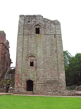 Goodrich Castle - The Great Keep replaced Godric of Mappestone's original earth and timber fortification on the site in the mid-12th century.