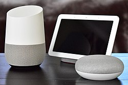 Google Home with Home Hub and Home Mini on table.jpg