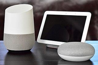 Google Home Voice-enabled smart speaker developed by Google
