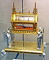 Gothic revival reliquary in the treasury of the Cathedral of Trier containing two links of the chain of Saint Peter.jpg