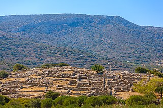 Gournia The site of a Minoan palace complex on the island of Crete.