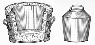 Pail closet - Cutaway section of a Goux pail, with mould