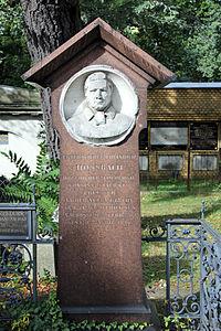 Grab Mehringdamm 21 (Kreuz) Peter Wilhelm Heinrich Hossbach.jpg