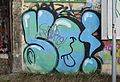 Graffiti at Fabriksgasse 16, Kometgründe, Meidling.jpg