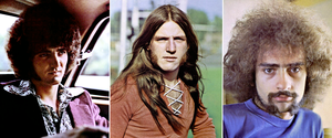 Original lineup of Grand Funk Railroad (left to right: Don Brewer, Mark Farner, and Mel Schacher)