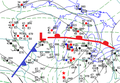 Great Lakes surface weather analysis at 00 UTC on 12 April 1965.png