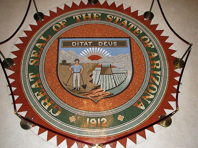 English: Great Seal of the State of Arizona as...