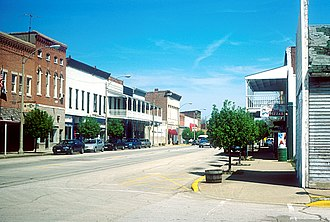 Greenup, Illinois - Business district of Greenup