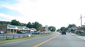 U.S. Route 340 in Virginia - Route 340 thru Grottoes, Virginia.