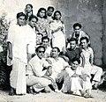 Group photograph of Talat Mahmood, Mohd Rafi, Kishore Kumar, Mukesh, Geeta Dutt, GM Durrani, Meena Kapoor, Kamal Barot, Mubarak Begum and others.jpg