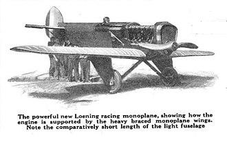 Grover Loening - Loening designed monoplane, circa 1923.